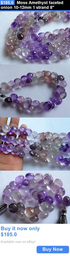 Women Jewelry: Moss Amethyst Faceted Onion 10-12Mm 1 Strand 8 BUY IT NOW ONLY: $185.0