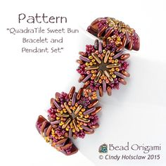 QuadraTile Sweet Bun Set - Cindy Holsclaw - Bead Origami