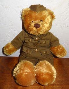 Army Teddy Bear Plush Stuffed Animal Green Uniform Plushland 9