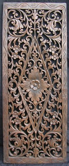 . Wood Carving Patterns, Carving Designs, Diy Wood Projects, Wood Crafts, Victorian Greenhouses, 3d Cnc, Wood Sculpture, Wood Doors, Door Design