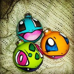 Original Starters Pokemon Christmas Ornaments by OTBPCreations