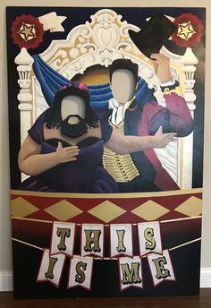 Photo booth inspired by The Greatest Showman. Fun for circus or any occasion. Made with by McKenzie Johnson #lovethismovethegreatestshowmansomuch #thegreatestshowmancircusphotobooth