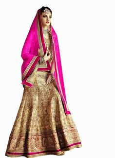 Exquisite Cream Lehenga Choli