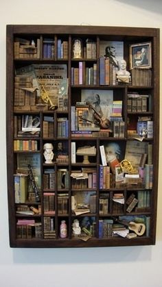 Want, want, want. A miniature library. This is 'classical music', I would want mine to be gardening, or literature or the Middle Ages.