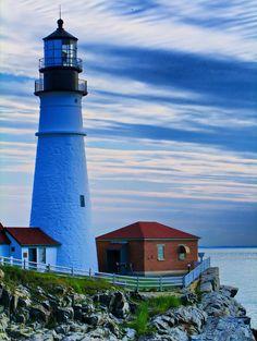 Morning stillness at Cape Elizabeth #Lighthouse - Portland, #ME   http://www.roanokemyhomesweethome.com
