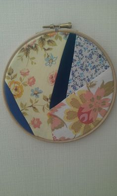 Fabric hoop art
