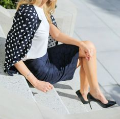 Mary Orton of The Memorandum plays with polka dots for a totally polished look.
