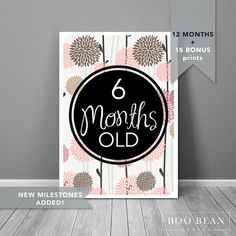 Nature Baby Milestone Card | Instant Download | Printable Card | Milestone Photo…