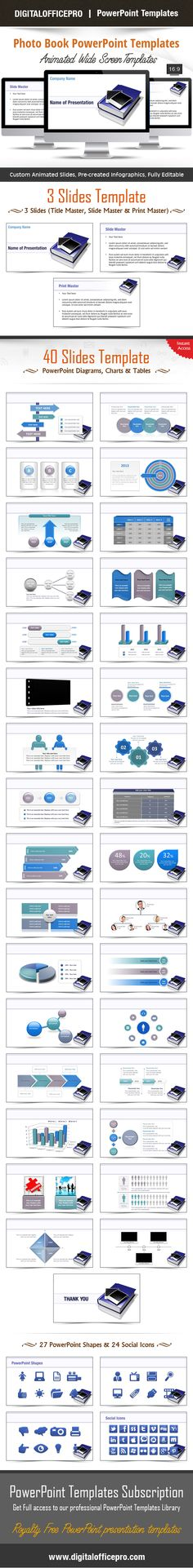 Impress and Engage your audience with Photo Book PowerPoint Template and Photo Book PowerPoint Backgrounds from DigitalOfficePro. Each template comes with a set of PowerPoint Diagrams, Charts & Shapes and are available for instant download.