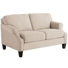 Genius is in the details, and our Alton Loveseat has a special genius for relaxation. Scoop arms, tapered legs and extra-thick, removable cushions give it a modern feel. Underneath, a hardwood frame provides durability and integrity. As for the hand-upholstered fabric? Well, there are times when geniuses just have to show off.