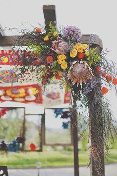 Bohemian chuppah   Photo by Gideon Photography   Read more - http://www.100layercake.com/blog/?p=76762 #chuppah #wedding #ceremony