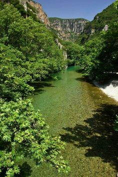 Voidomatis river in Epirus region, Greece Greece Tours, Greece Travel, Beautiful Islands, Beautiful Places, Nature Photography, Travel Photography, Places In Greece, Greek Islands, Natural Wonders
