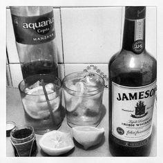 #Jameson Irish Whiskey with Apple Juice and Lemon
