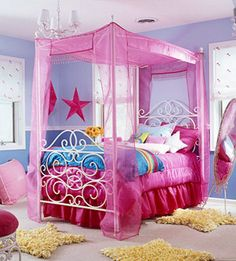 Whether you're transitioning from nursery to big-girl bedroom or your teen has outgrown her space and wants an up-to-date, cool pad to hang out in, decorating a girl's bedroom can be a fun bonding project for you both. To get the creative juices flowing, check out these decorating ideas and design advice.