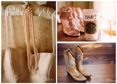 Starbucks for the morning, glam high heels for day, and cowboy boots for night. Full Spectrum Photography.