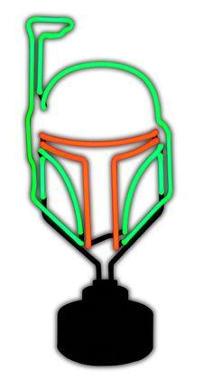 Boba Fett Neon Sign | From: Diamond Select via Amazon | #starwars #starwarsproducts #bobafett #starwarstuesday #starwarseveryday