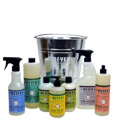 The Mrs. Meyer's Clean Day Cleaning Basics Variety Gift Bucket is an easy way to introduce a friend (or yourself) to our products and scents made with garden-fresh fragrances.
