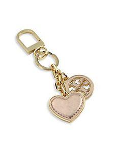 Tory Burch - Logo & Heart Leather Keychain