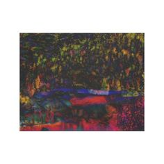 Mountain Abstraction Canvas Print...gorgeous colors.