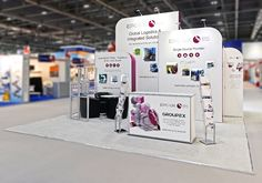 Have more than one trade show & different booth sizes at each one? No problem! ISOframe Custom modular exhibit and display system is here to help. In this example, EPC – UK worked with their ad agency, McConnells, and ISOframe designers to experience ISOframe's Intelligent Exhibiting. ISOframe's reconfigurability made achieving visual interest and impact in three booth sizes easy. Walls with 3 heights, a storage room, seating area,counters - all ready to mix and match…
