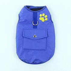 wonderfulwu Pet Clothes, Reversible Warm Waterproof Cotton-padded Vest Double-sided Pet Coat for Large Dogs (L, Blue) >>> Check out the image by visiting the link. (This is an affiliate link) #DogApparelAccessories