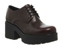 Womens Vagabond Dioon Shoes BORDEAUX HOCHGLANZ EXKLUSIV Ferse Schuhe Mit  Mittelhohem Absatz, Schnürschuhe, Plateauschuhe f4af22889b
