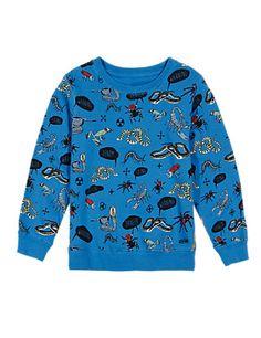 Pure Cotton Bug Print Sweatshirt (1-7 Years)   M&S