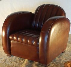 Art Deco - An Art Deco club chair (1930s)