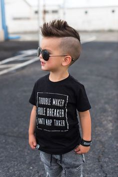 Kids hairstyle & haircuts can be short and easy, unique or somewhere in between. These cool boys haircuts feature classic cuts, hot trends and all around good looks. There's no reason not to get creative with kids hair. Color, hair designs or trendy cuts may be forbidden later so let them have fun now.