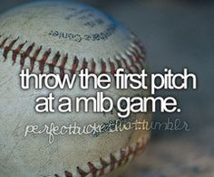 Throw the first pitch at a MLB game