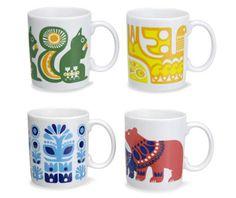 Kanteleen Kutsu mugs for Marimekko designed by Sanna Annukka: Inspired by classic Finnish folk tales
