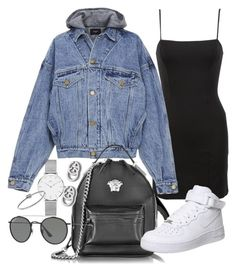 """Untitled #22189"" by florencia95 ❤ liked on Polyvore featuring Reformation, Fear of God, Versace, Gucci, NIKE, Ray-Ban, Daniel Wellington and Michael Kors"