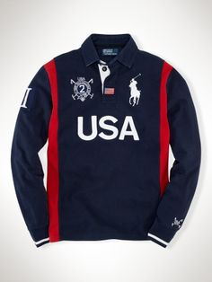 Polo Ralph Lauren Custom Long-Sleeved USA Rugby