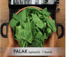 पालक पनीर कैसे बनाते है? How to make Palak Paneer Recipe in Hindi? [Step By Step Photo] Puri Recipes, Paneer Recipes, Badam Milk Recipe, Paneer Recipe In Hindi, Dum Biryani, Food Names, Garam Masala, Palak Paneer, Lettuce