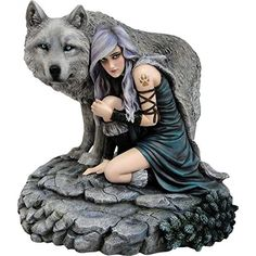 "Anne Stokes ""Protector"" Wolf Fantasy Art Limited Edition Figurine"