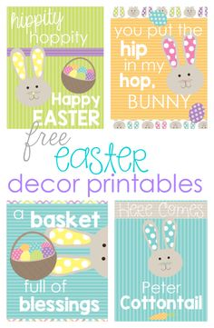 Four FREE & adorable Easter printables to decorate with!