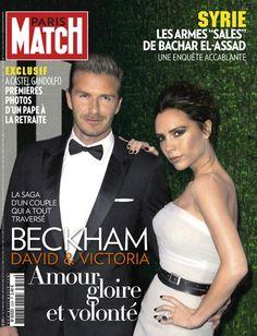 Paris Match n° 3329 du 7 mars 2013 avec David et Victoria Beckham en couverture.
