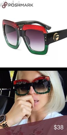 4f4111afbf0 Oversized square sunglasses red Style Oversized square sunglasses Color Red  green black Materials plastic Conditions brand new Make me an offer  Accessories ...