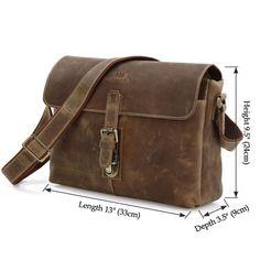 57ebae947b59 Image of Antique Vintage Genuine Crazy Horse Leather Messenger Bag Satchel  Macbook iPad Bag-