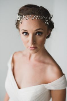 Pelo novia vid | Diadema de boda de plata | Corona de Novia de plata…