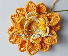 Passo a Passo Flor de Crochê em Barbante - Flor Melissa - Segunda Parte