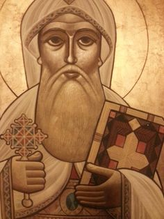 Detail: icons of st. mary's church ard el golf , by Prof. Isaac fanous.
