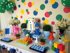 Resultado de imagen para pocoyo cumpleaños decoracion 3rd Birthday Party For Boy, Rainbow Birthday, 1st Boy Birthday, Baby Party, Birthday Party Decorations, Artist Birthday, Holidays And Events, First Birthdays, Party Time