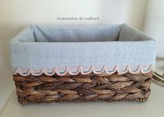 Momentos de Costura. Ideas para forrar cestas y decorar el baño