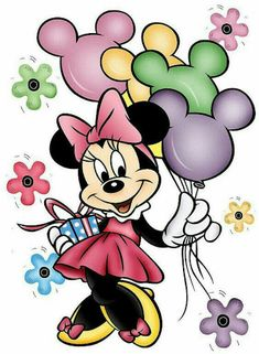 Tarjeta de cumpleaños con minnie mouse