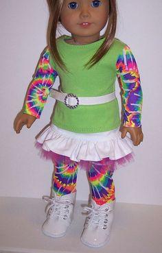American Girl/18 Doll Trendy Tie Dye by erinslittlesecrets on Etsy