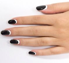 black and white nail designs 45