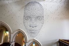 """One of the most amazing effects of 3D was reached by a British artists Steven Follen, who created his masterpiece """"For all time"""". Just think how much accurate work was involved, as the whole installation was done with a help if 2000 hand-folded metal stars. The inspiration came to the artist fro…"""