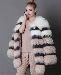Knitted Cross Fox fur long coat, made of premium SAGA Cross Fox fur by excellent handcraft. Natural color of fur, not dyed. Fur Fashion, Winter Fashion, Female Fox, Long Overcoat, Fluffy Coat, Fur Accessories, Fur Clothing, Fox Fur Coat, Fur Jacket
