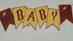 Harry Potter Baby Shower Banner  Gryffindor by WhenJuJuBeCraftin